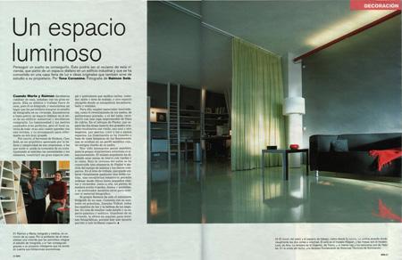Bildergalerie: Innenarchitektur (In Assistenz bei Reimón Solà, Barcelona 2001) - Doppelseite 1