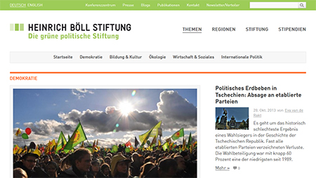 Web-Relaunch Heinrich Böll Stiftung
