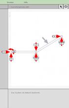 Screenshot: Interaktiver Kräftebaukasten - Statisches System im Auswertungsmodus
